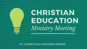 christian ed. ministry meeting